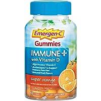 Emergen-C Immune+ Gummies, Vitamin D plus 750 mg Vitamin C (45 Count, Super Orange...