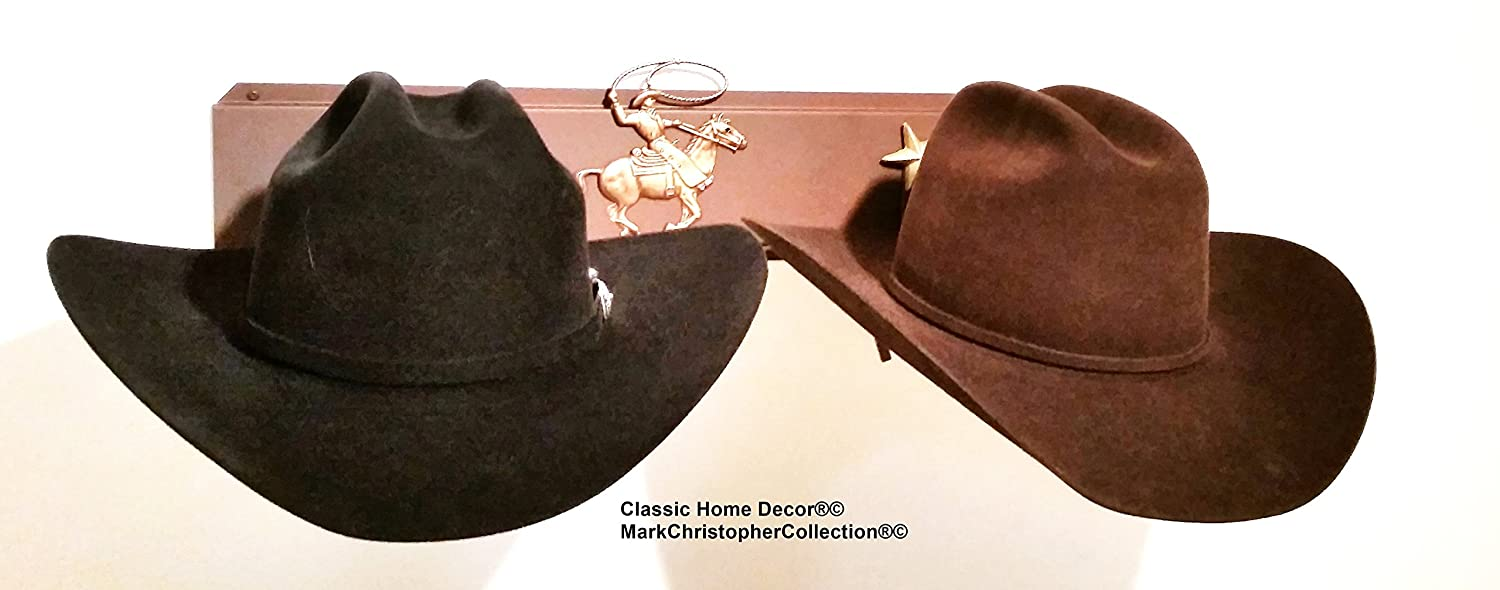 American Made Cowboy Hat Holder Brim Up with Gold Stars