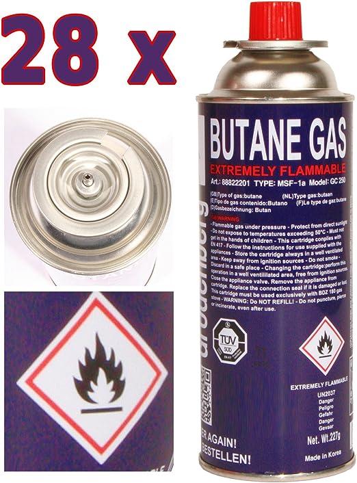 28 x Gas Butano per Camping Gas Fornello Campeggio Fornello a Gas 227 G
