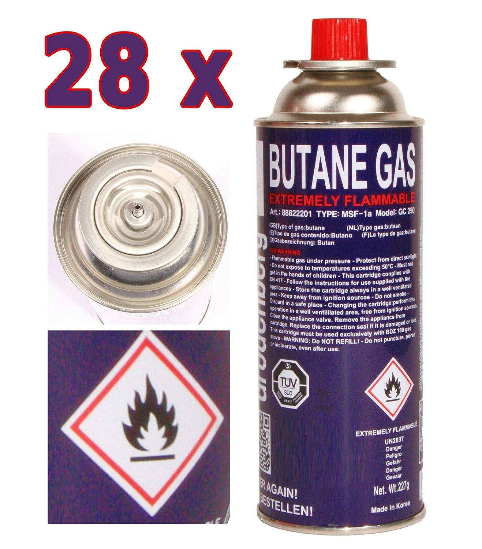 28 x Cartucho de gas 227 g Butano Cartuchos de Gas MFS 1 A para ...