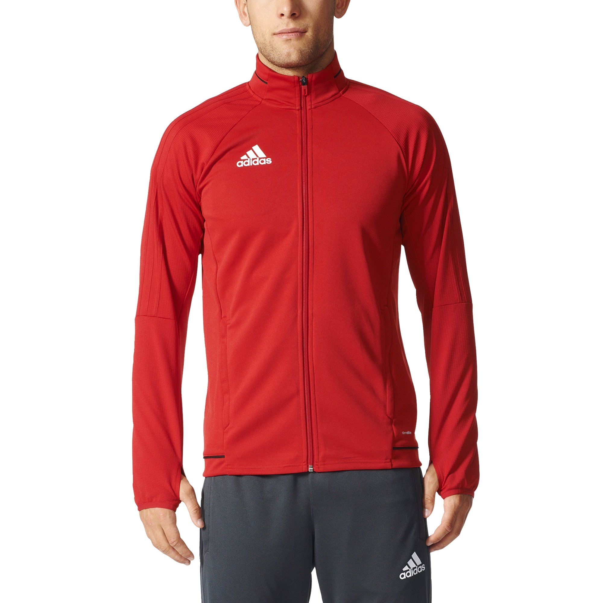 Adidas Tiro 17 Mens Soccer Training Jacket M Power Red-Black-White