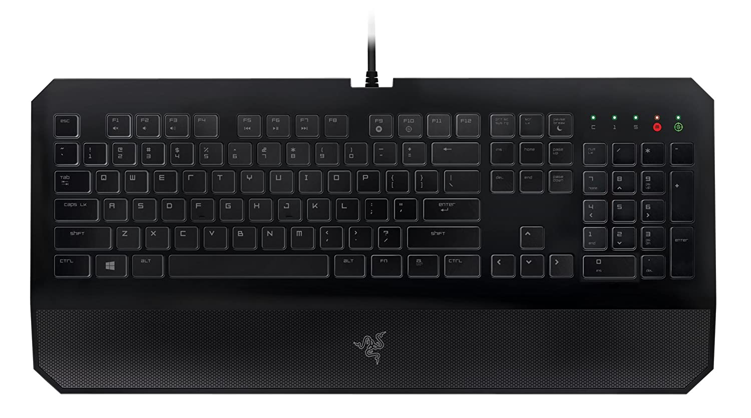 Amazon.com: Razer DeathStalker Essential Gaming Keyboard - Ergonomic  Gaming-Grade Membrane Keyboard With Wrist-Rest: Computers & Accessories