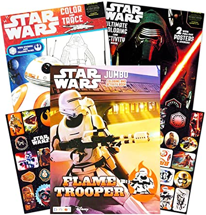 - Amazon.com: Star Wars Coloring Book Super Set With Stickers And Posters (3  Jumbo Books - Over 200 Pages Total, 2 Posters, Over 30 Stickers): Toys &  Games