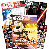 Star Wars Coloring Book Super Set with Stickers and Posters (3 Jumbo Books - Over 200 Pages Total, 2 Posters, Over 30…