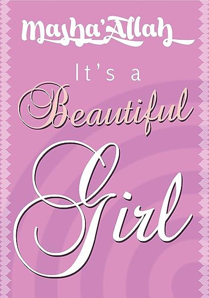 Glückwunschkarte Zur Geburt Eines Mädchens Islamische