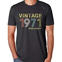 50th Birthday Gifts T Shirts for Men Vintage 1971 Original Parts Tee Funny Retro 50th Birthday Graphic T-Shirt Tops