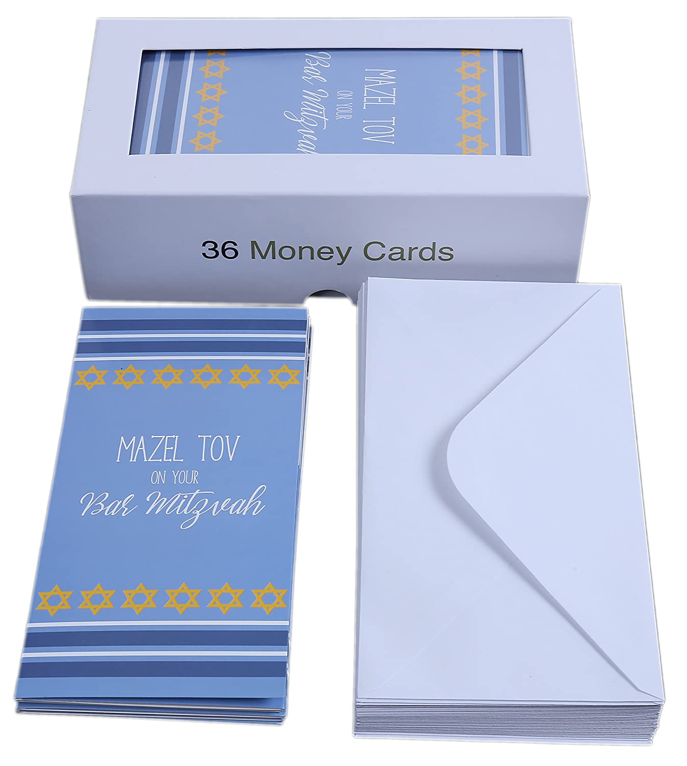 Amazon bat mitzvah cards jewish greeting cards money amazon bat mitzvah cards jewish greeting cards money gift card holders bluewhitegold includes 36 cards and envelopes 7 x 35 inches kristyandbryce Images
