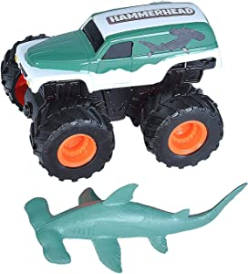 Wild Republic Hammerhead Shark & Truck, Adventure Gifts for Kids, Imaginative Play Toy, 4""