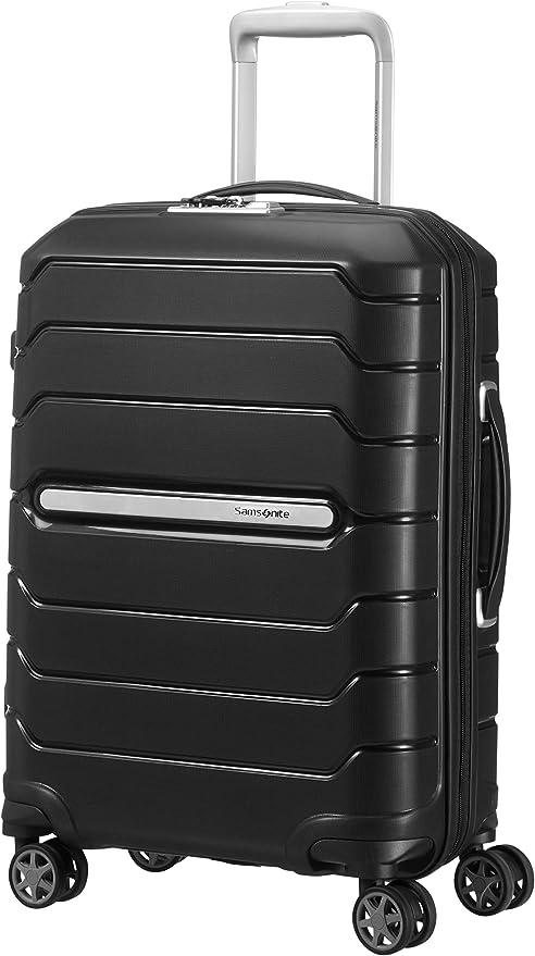 Samsonite Flux - Spinner M Expandable Suitcase, 68 cm, 85 L, Blue (Navy Blue)