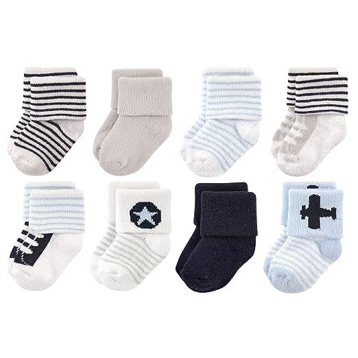 Amazon Com Luvable Friends Unisex 8 Pack Newborn Socks Clothing