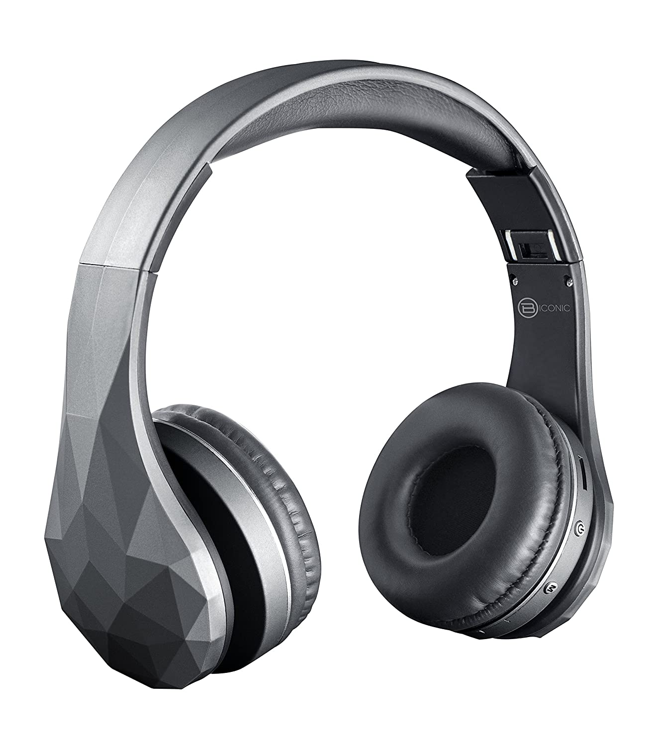 c2e2ddfed20 Amazon.com: Biconic Bluetooth Foldable Hands Free Wireless Control Stereo  Headphones Grey: Musical Instruments
