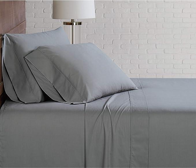Burgundy Size Brooklyn Loom Classic Cotton Sheet Set Twin XL