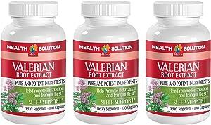 Sleep Help Supplement - Valerian Root Extract - Valerian Nature Made - 3 Bottle 300 Capsules