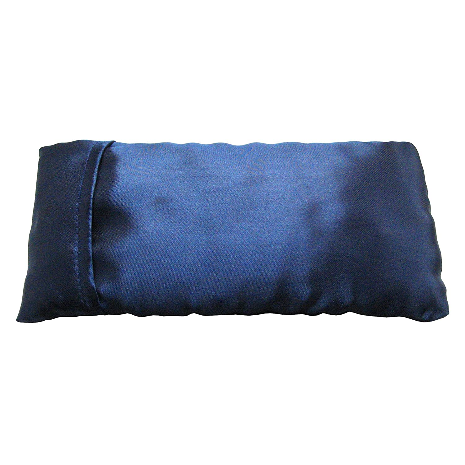 Dark Blue Eye Pillow - Plain, unscented Flaxseed Ruth White Yoga Products Ltd