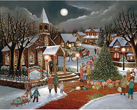 Masterpieces Holiday Snowy Afternoon Friends 300Piece Ezgrip Jigsaw Puzzle