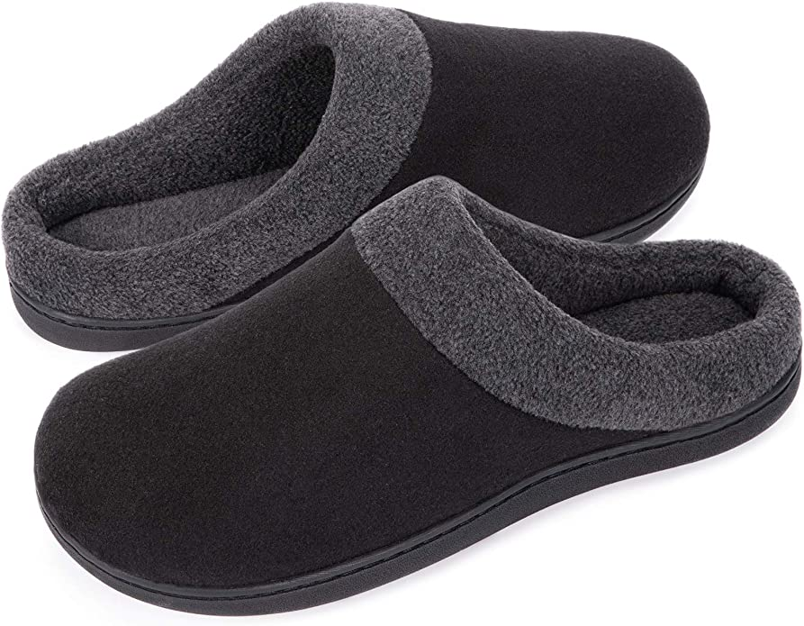 Details about  /ZriEy Mens Home Slippers Memory Foam Fluffy Warm Non-Slip House Shoes