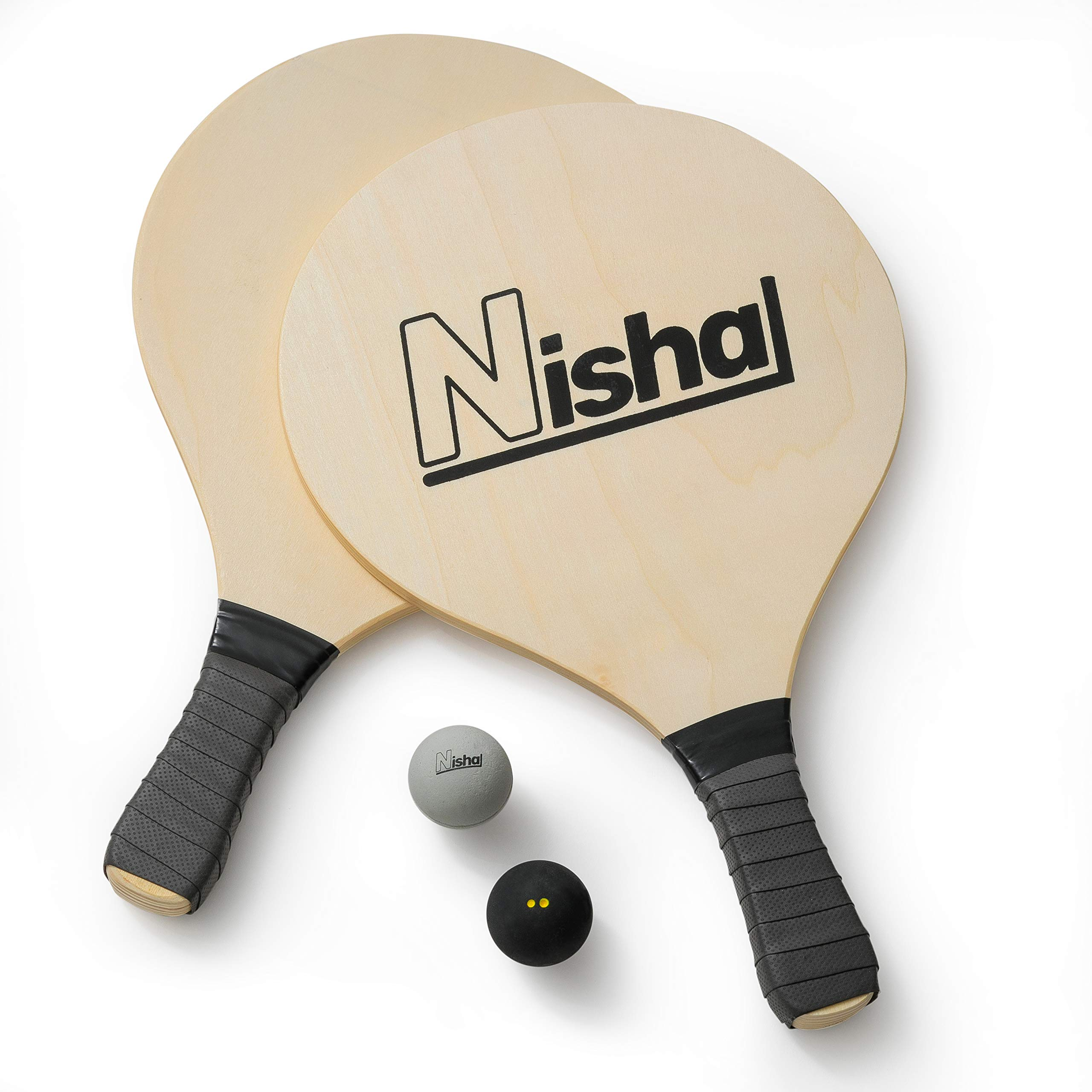 Paddle Ball Game - Smash Ball Set | Premium Set of 2 Smash Rackets, 2 Balls & Free Tennis Grips | Official Smashball Included | Thick Plastic Case