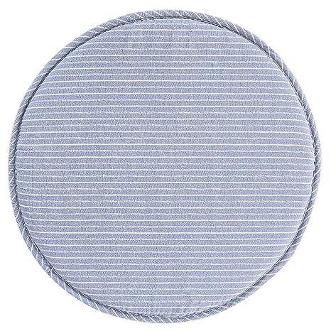 Levoberg Funda de Taburete Redondo en algodón Fondo Antideslizante cojín Taburete de Bar 33 cm, algodón, #10, 33cm