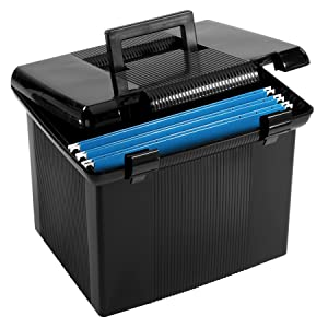 "Pendaflex Portable File Box, Black, 11""H x 14"" W x 11-1/8"" D (41742)"