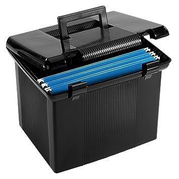 amazon com pendaflex portable file box black 11 h x 14 w x 11 1