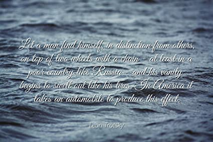 Amazon com: Leon Trotsky - Famous Quotes Laminated POSTER
