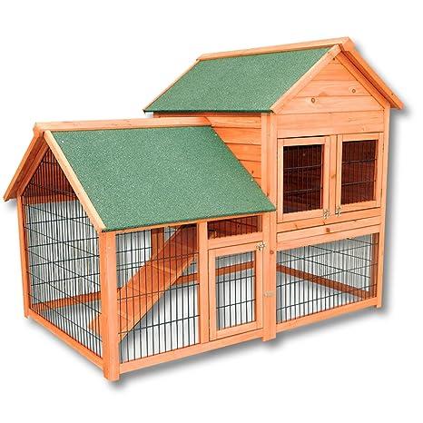 Conejera gallinero caseta roedores animales pequeños corredor espacio abierto recinto descubierto