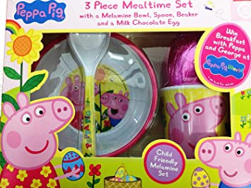 Kinnerton peppa pig 3 piece mealtime breakfast set easter egg gift kinnerton peppa pig 3 piece mealtime breakfast set easter egg gift set negle Image collections