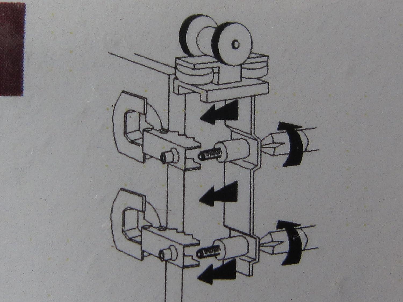 max 1 Satz 1477 Hettich 6 WingLine 77 Montagesatz f/ür eine Faltt/ür 40 kg