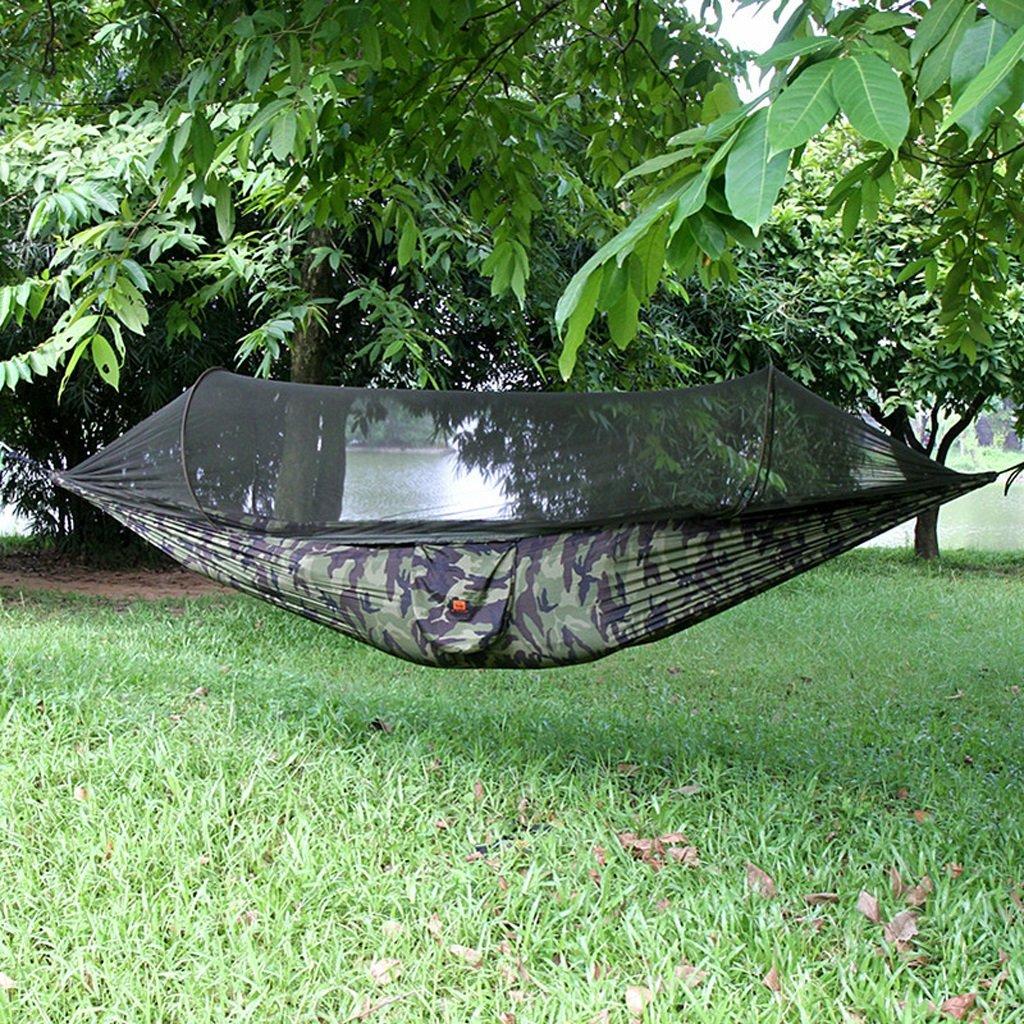 Hängematten Wddwarmhome Doppelte Freien mit den Moskito-Netzen, die einfach zu tragen sind (290  145cm)