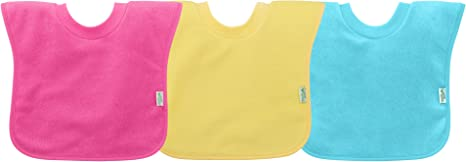 green sprouts Stay-dry Infant Bibs 10 Count Pink Set