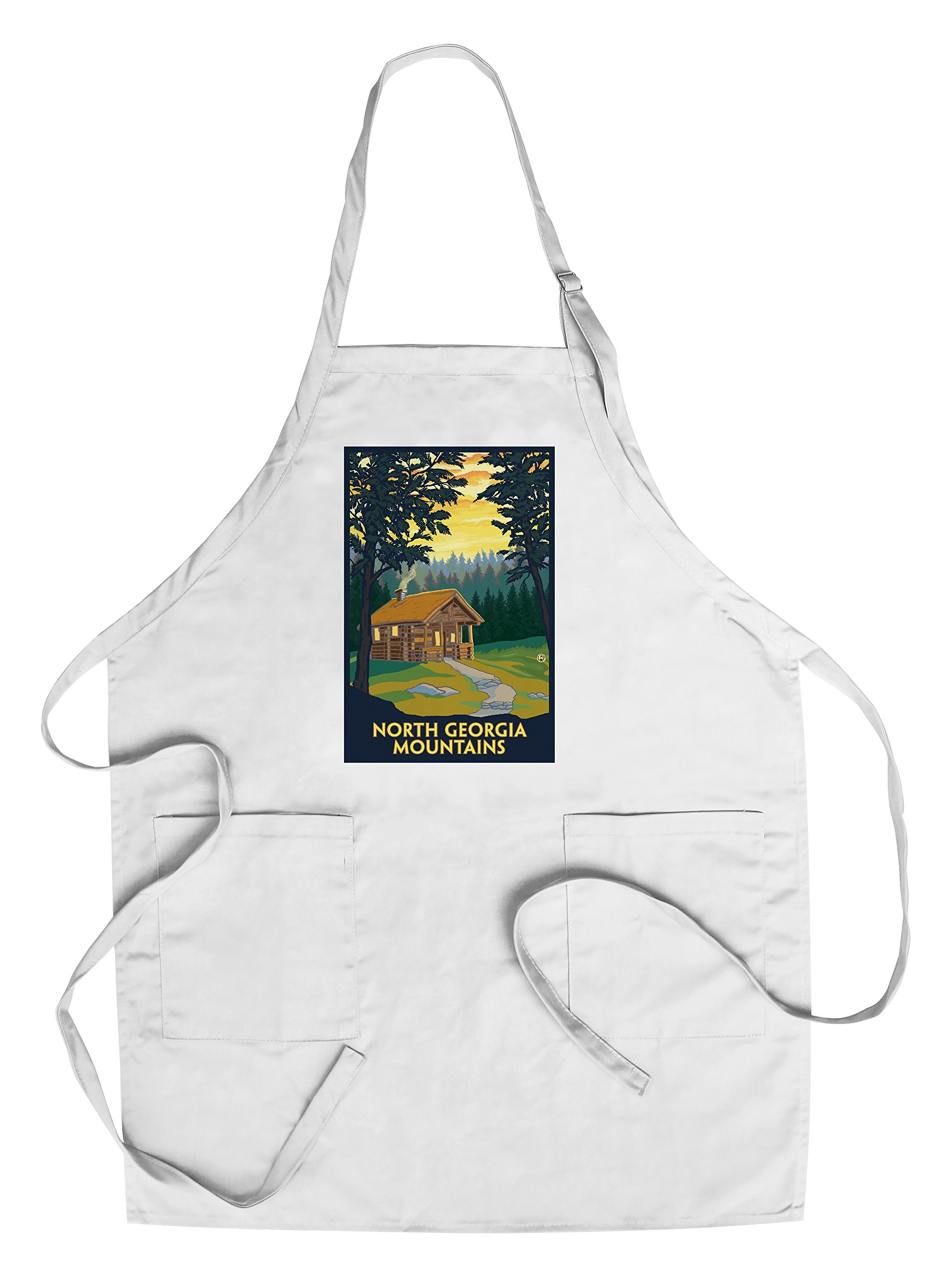 North Georgia Mountains - Cabin in Woods (Cotton/Polyester Chef's Apron)