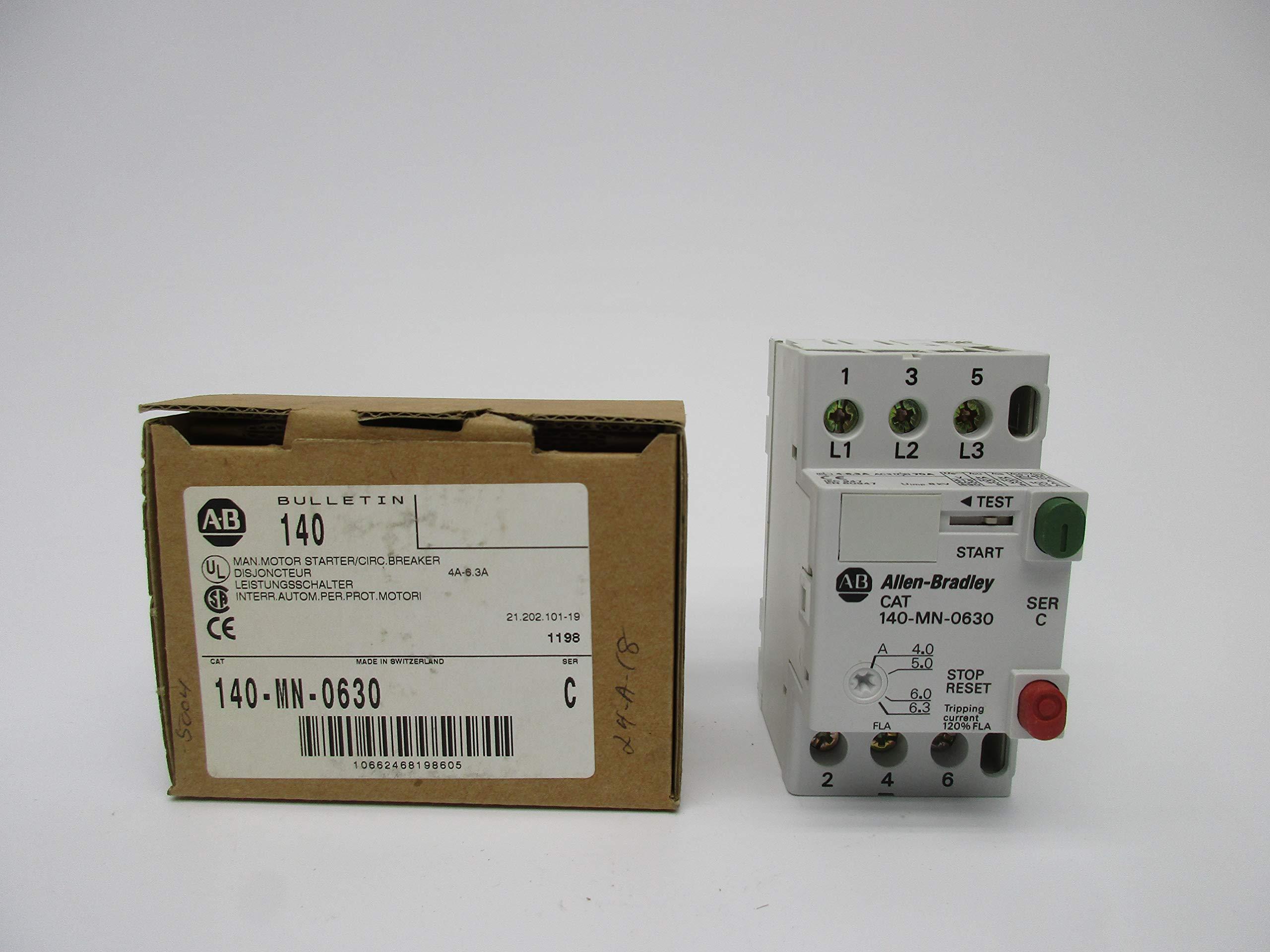 Allen Bradley 140-MN-0630 SER. C 4-6.3A 600V NSMP