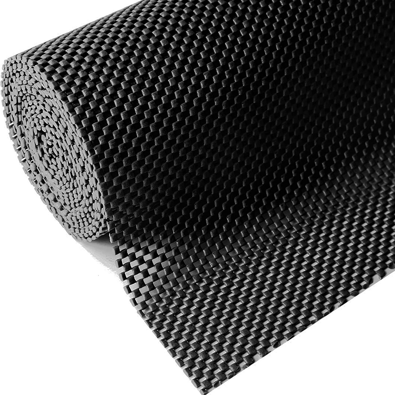 "BLACK Non Slip Cabinet Shelf Liner Pad Drawer Grip Mat No Skid 12/"" x 60/"" Roll"