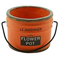 Importwala Vintage French Ceramic Planter with Handle for Home Garden Décor