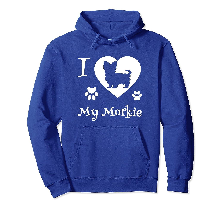 Morkie Hoodie I Love My Morkie Dog-AZP