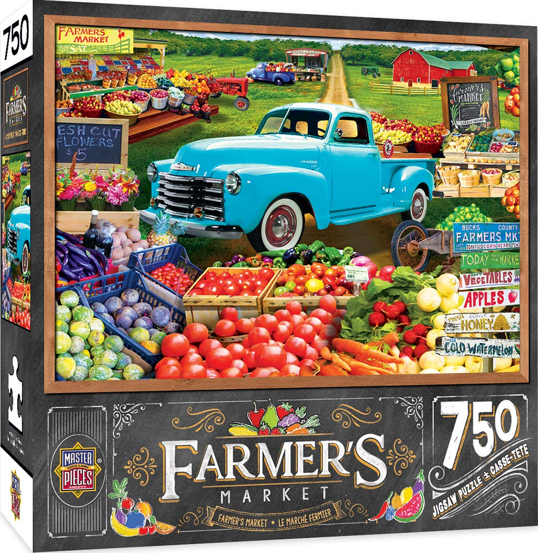 Masterpieces Farmers Market Locally Grown 750Piece Jigsaw Puzzle