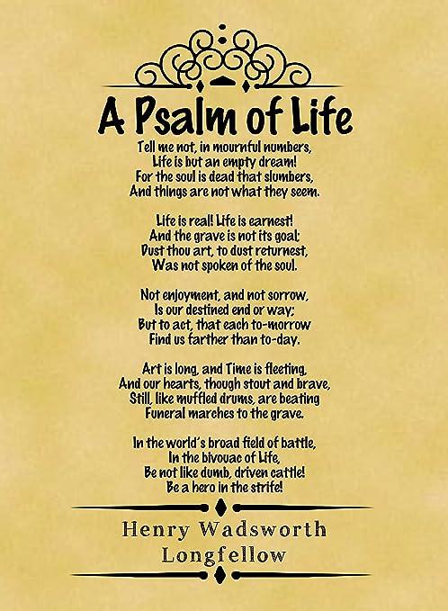 Amazon.com: Tamaño A4 Pergamino Cartel clásico Poema Henry ...