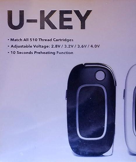 USB Key Flip Battery for Vape Oil Cartridges (Black)