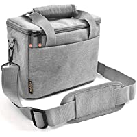 FOSOTO Padded Camera Case Shockproof Shoulder Bag with Extra Rain Cover Compatible with for Nikon, Canon, Sony…