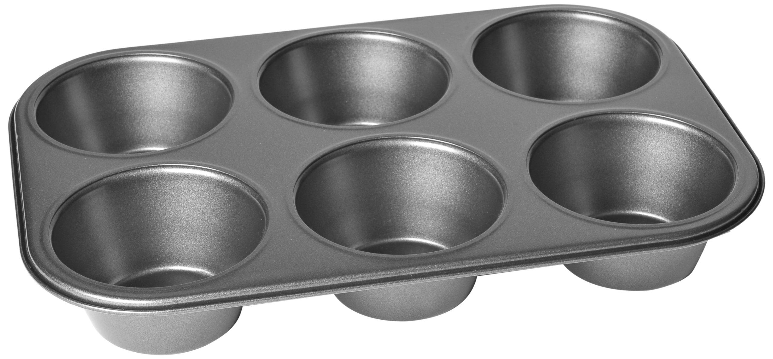 Chloe's Kitchen 201-133 Muffin Pan, Jumbo 6-Cavity, Non-Stick by MDC Housewares Inc.