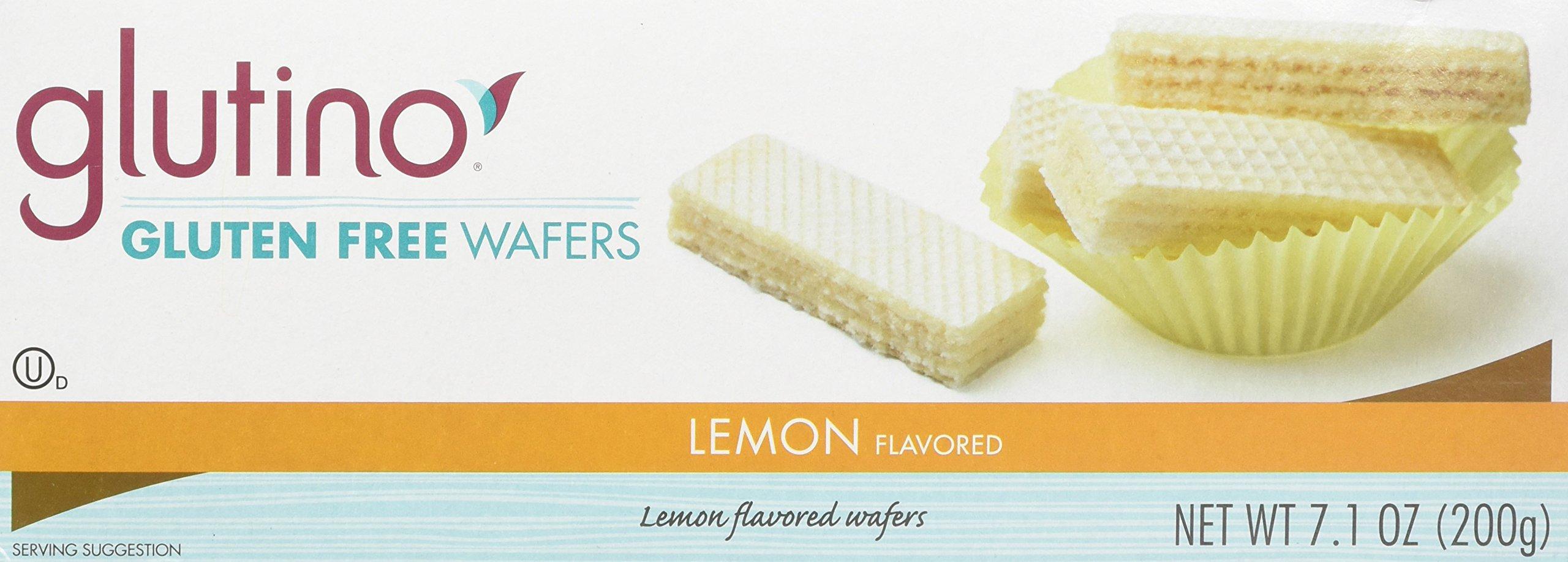 Glutino Gluten Free Wafer Cookies Lemon 7.10 OZ (Pack of 3) by Glutino