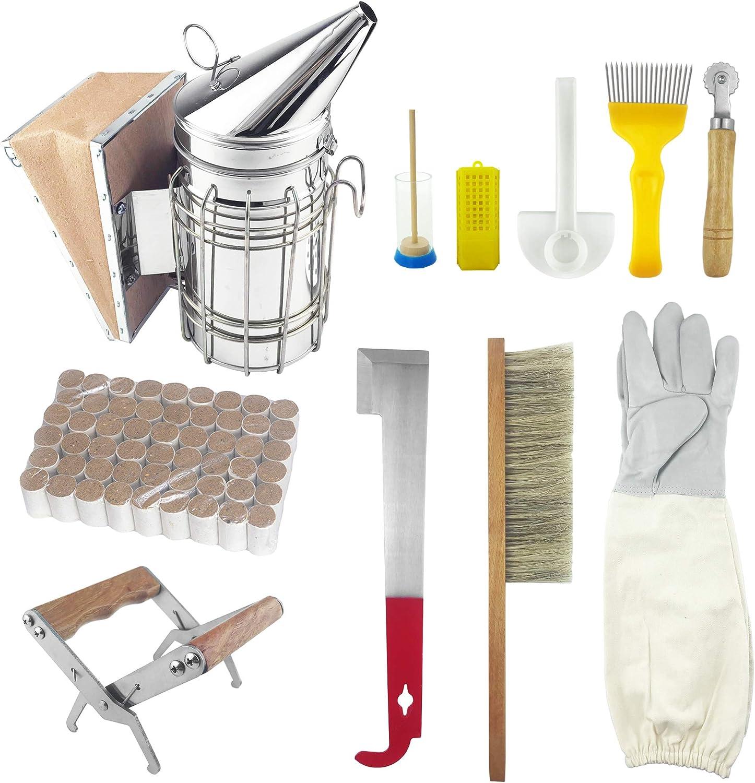 Beekeepers Starter Tool Kit Equipment Essentials Honeybees 10 pcs Complete Kit
