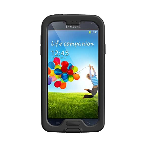 eb8aad3621a Amazon.com  LifeProof NÜÜD Samsung Galaxy S4 Waterproof Case - Retail  Packaging - Black Clear  Cell Phones   Accessories