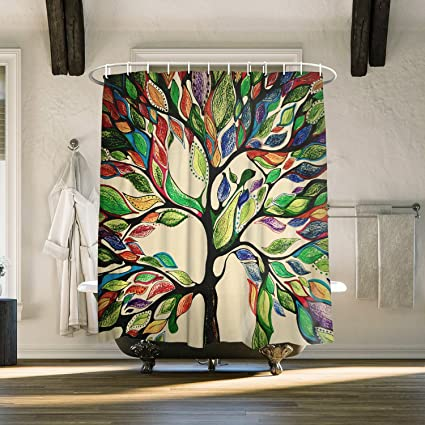 Amazon Extra Long 72 X 84 Inch Bathroom Shower Curtain Tree Of