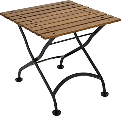 Amazon.com : Sunnydaze European Chestnut Wood Folding Square Side Table - Small Indoor/Outdoor Table - Ideal For Patio, Balcony Or Living Spaces - 20-Inch Square - Brown : Garden & Outdoor