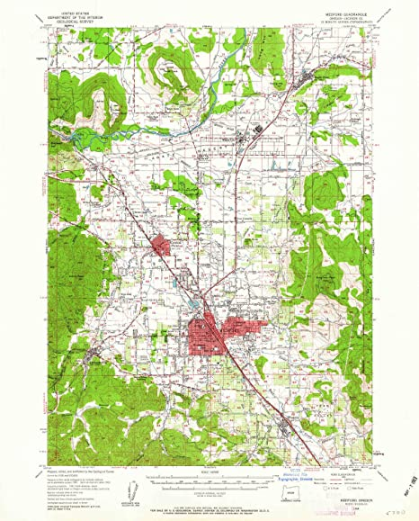 Map X.Amazon Com Yellowmaps Medford Or Topo Map 1 62500 Scale 15 X 15