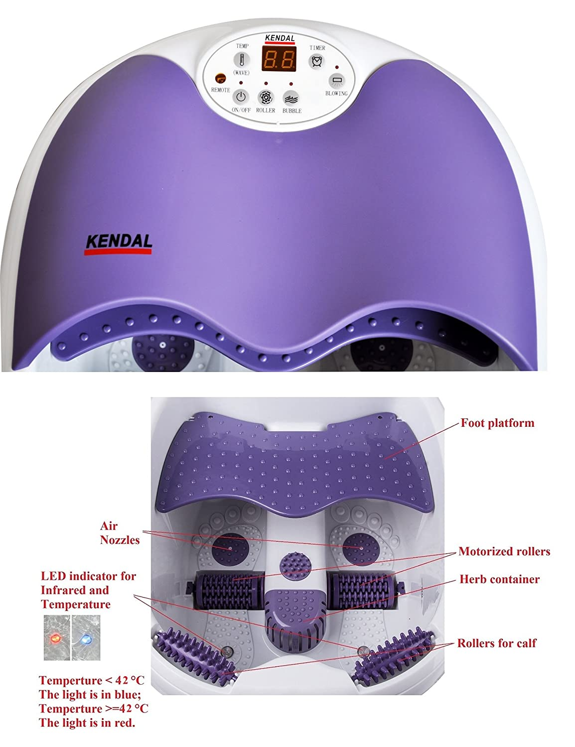 Amazon.com: All in one foot spa bath massager w/ motorized rolling ...