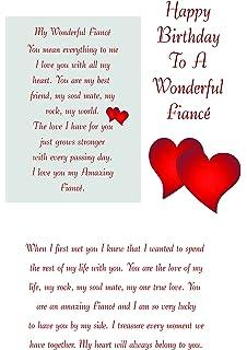 fiance birthday card amazon co uk office products