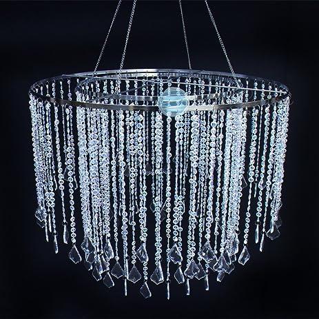 Amazon paperlanternstore designer crystal stainless steel paperlanternstore designer crystal stainless steel chandelier 24 x 18 inch round single tier aloadofball Choice Image
