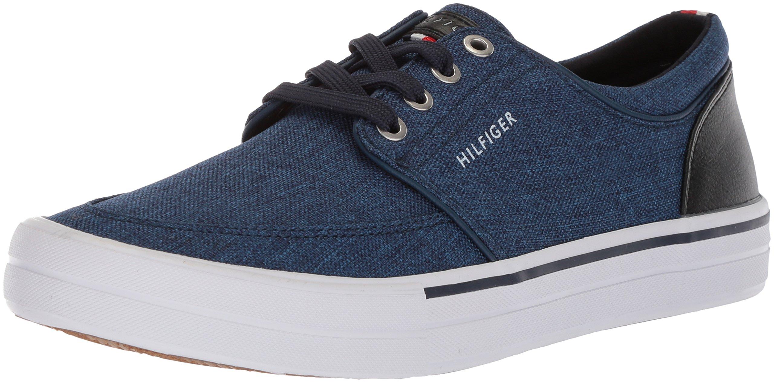 Tommy Hilfiger Men's REDD5 Shoe, Dark Blue Texture, 9 Medium US